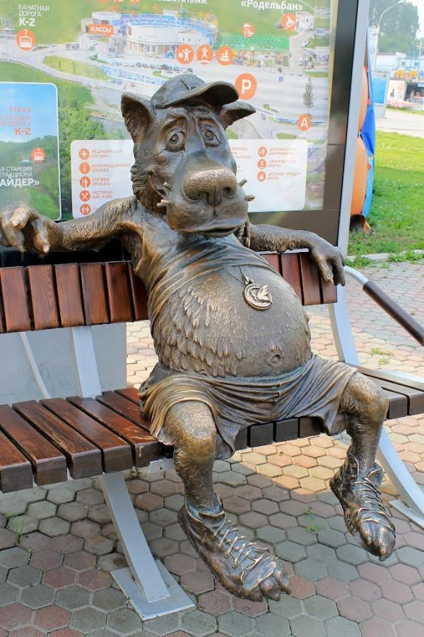 Волк-спортсмен из Красноярска