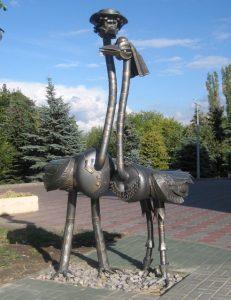 Скульптура Два Страуса
