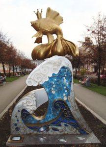 Памятник золотой рыбке