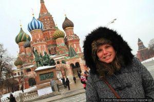Американка путешествует по России