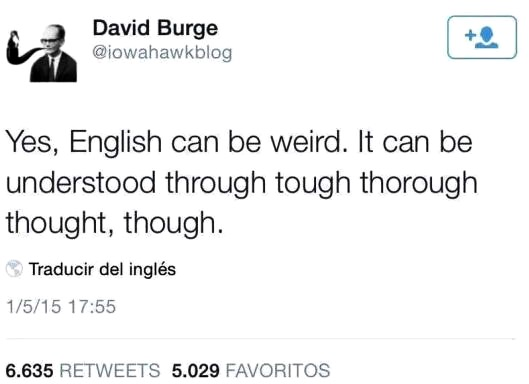 English tongue twister