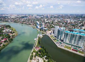 Вид на центр Краснодара