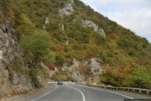 Военно-грузинская дорога на границе с Россией