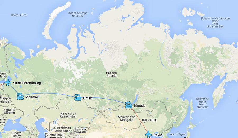 Йоханна и Ромен путешествие в Россию