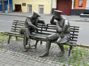 Памятник игрокам в нарды