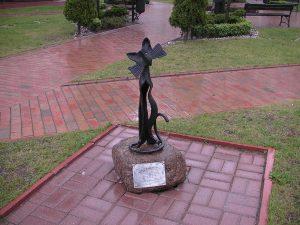 Скульптура кошки в Калининграде
