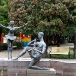 "Скульптура ""Балерина и саксофонист"" в Ростове-на-Дону"